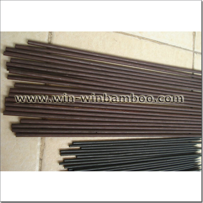 Brown Bamboo Stick ~ Bamboo flower sticks dyed black and brown color in waxed